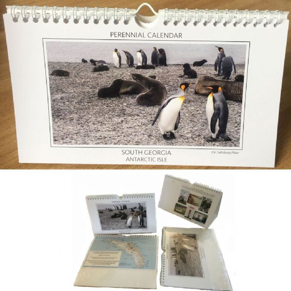 South Georgia Antarctic Isle - A5 Perennial Desk Calendar
